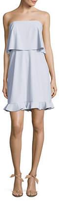 Halston H Strapless Flounce Skirt Dress