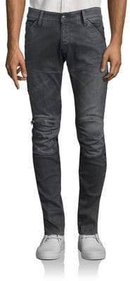 G Star 5620 3D Slim-Fit Zip Knee Jeans