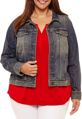 Liz Claiborne Denim Jacket- Plus
