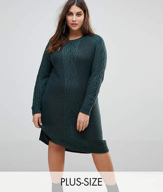 Junarose Cable Knit Sweater Dress
