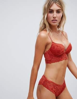 New Look Cotton Lace Brazilian Briefs