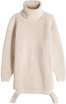 Balenciaga Deconstructed Cotton Turtleneck Pullover