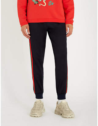 Gucci Side-stripe tapered woven jogging bottoms
