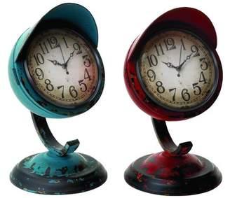 Benzara 2-Pc Table Clock with Base
