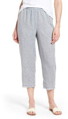 Eileen Fisher Crop Straight Leg Linen Pants
