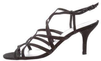 Stuart Weitzman Glitter Cage Sandals