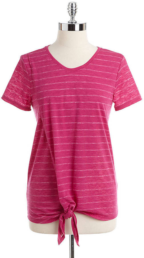 Vince Camuto TWO BY Striped Wrap Tee