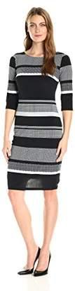 Sangria Women's Striped Midi Dress