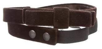 Lanvin Velvet Bow Belt