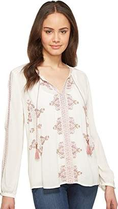 Lucky Brand Women's Vintage Embroidered Peasant Top