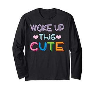 Woke Up This Cute Heart Colorful Pastels Long Sleeve T-Shirt