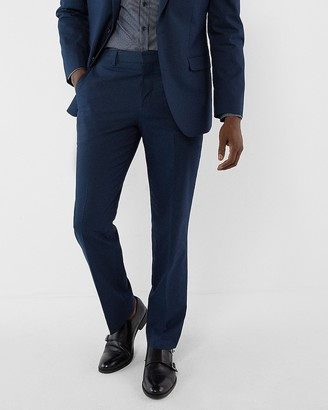 Express Classic Navy Cotton Blend Stretch Suit Pant