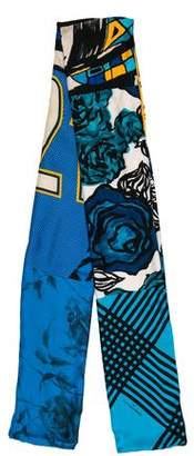 Pierre-Louis Mascia and Herno Silk Mixed-Print Scarf