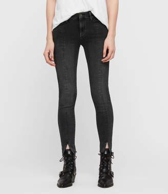 AllSaints Grace Split Ankle Skinny Jeans