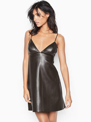Very Sexy Faux-leather Slip Dress