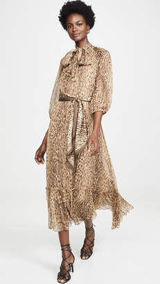 Zimmermann Espionage Neck Tie Dress