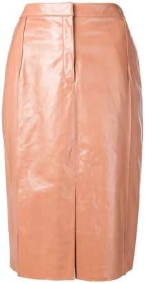 Drome lambskin straight skirt