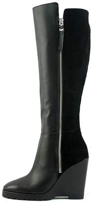 MICHAEL Michael Kors Womens Clara Leather Closed Toe Knee High