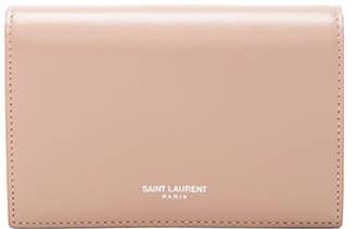Saint Laurent Flap Wallet Large Nude Pink