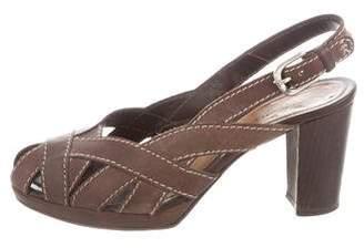 Henry Beguelin Slingback Leather Sandals