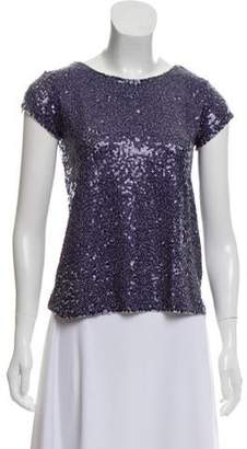 Calypso Sequined Knit Top