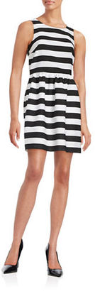 Kensie Striped Fit-and-Flare Dress $119 thestylecure.com