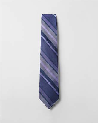 Express Striped Narrow Silk Tie