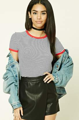 FOREVER 21+ Striped Ringer Tee $9.90 thestylecure.com
