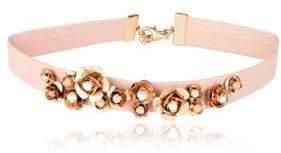 Danielle Nicole Blossom 14K Imitation Goldplated Leather Choker Necklace