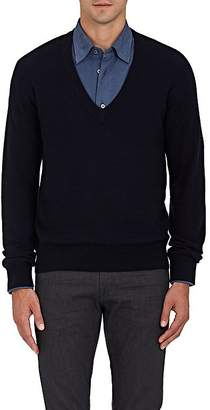 Brioni MEN'S CASHMERE-SILK V-NECK SWEATER