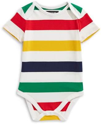 HBC Stripes Baby's Multi Stripe Short Sleeve Cotton Bodysuit
