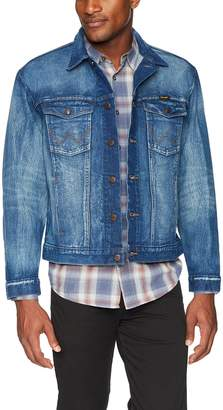 Wrangler Men's Big & Tall Western Style Unlined Denim Jacket