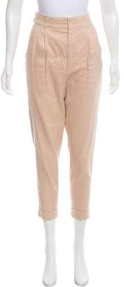 Isabel Marant High-Rise Linen-Blend Pants