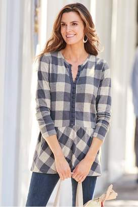 Soft Surroundings Peri Plaid Pullover