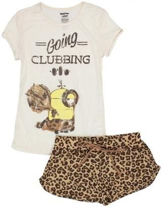 93047a398 Despicable Me Minions Juniors Womens Shorts Pajamas Set