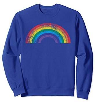 Rainbow Sweatshirt Vintage Retro 80's Style Women Men Gift