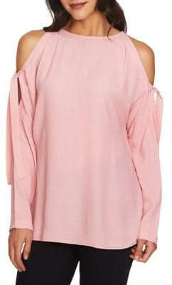 1 STATE 1.STATE Tied Cold-Shoulder Blouse