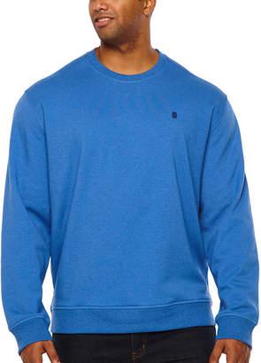 Izod Advantage Stretch Solid Fleece Crew Mens Crew Neck Long Sleeve Sweatshirt Big and Tall