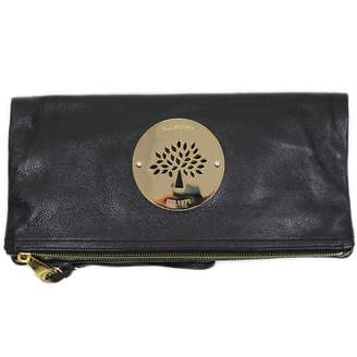 Mulberry Black Leather Clutch Bag