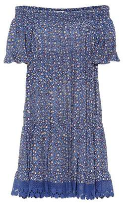 Tory Burch Wild Pansy off-the-shoulder dress