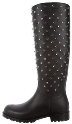 Saint Laurent Festival Embellished Rain Boots w/ Tags