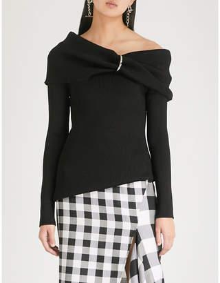 Monse One-shoulder knitted jumper