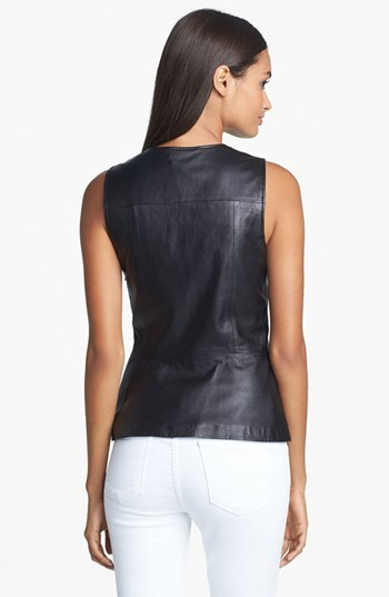 Theory 'Etia L.' Leather Top
