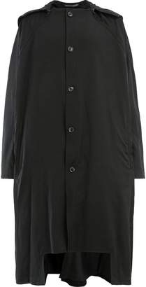 Yohji Yamamoto hooded high low coat