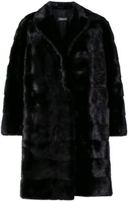 Simonetta Ravizza oversize panelled fur coat