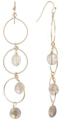 Panacea 3 Link Crystal Stone Drop Earrings