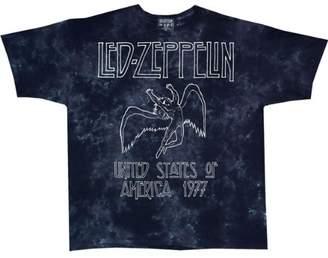 Liquid Blue Men's LED Zeppelin USA Tour 77 Tie Dye Short Sleeve T-Shirt