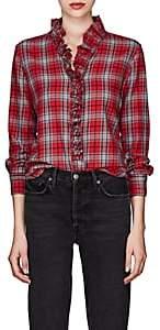 Etoile Isabel Marant Women's Dawendy Plaid Cotton Flannel Blouse - Red