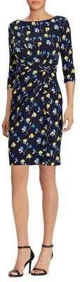 Lauren Ralph Lauren Floral-Print Ruffled Sheath Dress