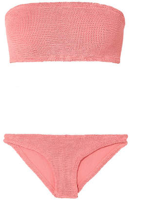 Hunza G - Gabrielle Seersucker Bandeau Bikini - Blush